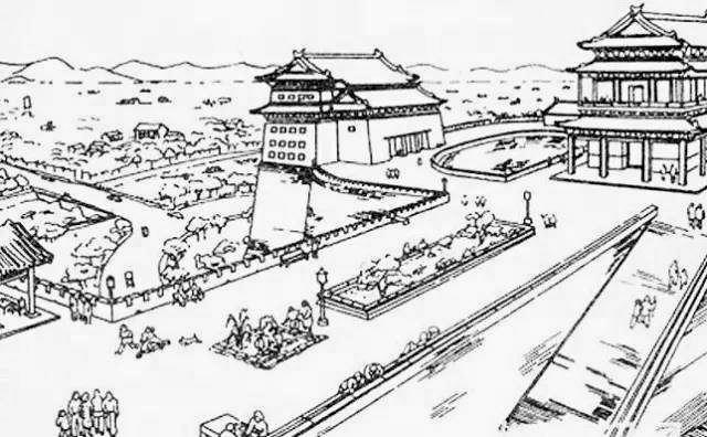 园林构想图简笔画-《北京城墙公园设想规划草图》-人文志 中国建筑四杰