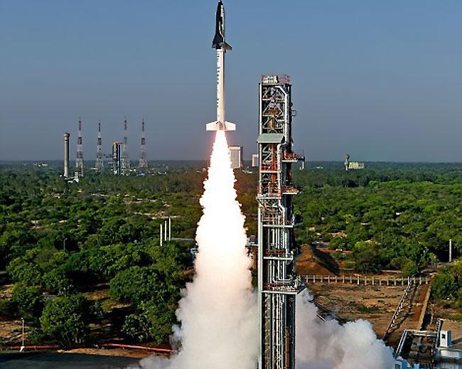 印度这架航天飞机发射后是不回收的,rlv-td运载器从安得拉邦达万航天